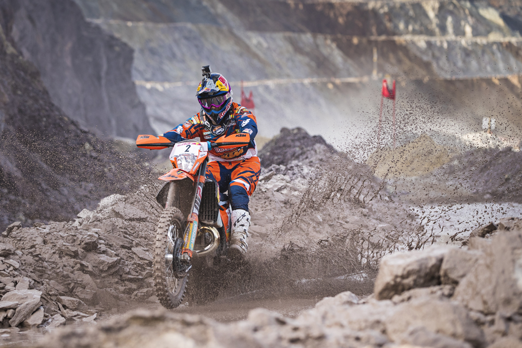 Alfredo Gomez performs during the prolog of the Red Bull Hare Scramble 2016 in Eisenerz, Austria on May 27, 2016