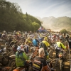 Competitors prepare to race the prolog of the Red Bull Hare Scramble 2016 in Eisenerz, Austria on May 27, 2015.