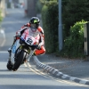 31/05/2017: Bruce Anstey (Honda/Padgettsmotorcycles.com) through the village of Kirk Michael during qualifying for the Isle of Man TT. PICTURE BY DAVE KNEEN/PACEMAKER PRESS.