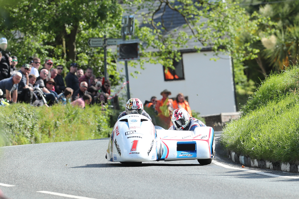 03/06/2017: Ben Birchall/Tom Birchall (LCR/IEG Racing) at Barregarrow during qualifying for the Monster Energy Isle of Man TT. PICTURE BY DAVE KNEEN/PACEMAKER PRESS
