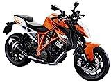 Maisto KTM 1290 Super Duke R: Originalgetreues Motoradmodell, Maßstab 1:12, mit Federung und Seitenständer, 18 cm, orange (513065)