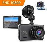 Dashcam Full HD 1080P Autokamera 3 Zoll IPS Dashcam Auto Vorne Hinten with Nachtsicht, 170°Weitwinkelobjektiv, G-Sensor, Loop-Aufnahme, Bewegungserkennung, Parkmonitor, WDR