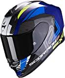 Scorpion Motorradhelm EXO-R1 AIR HALLEY Blue-Neon Yellow, Schwarz/Blau, S