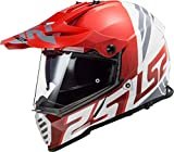 LS2, motocrosshelm, Pioneer evo Evolve rot weiss, S