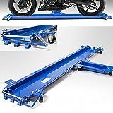 BITUXX Motorrad Rangierhilfe fur Seitenständer Rangierschiene Motorrad Rollwagen Rolli Für Seitenständer Belastbar bis 270 kg