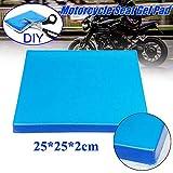 EUTEEWAL Motorrad Sitz Gel Pad Dämpfung Matte Komfortable Weiche Kissen Blau (25x25x2cm)