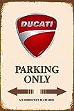 Blechschild Ducati Parking Only 20 x 30 cm Reklame Retro Blech 186
