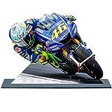auto-horloge Valentino Rossi, Moto GP, Yamaha, Miniatur Modell Motorrad in der Uhr 11
