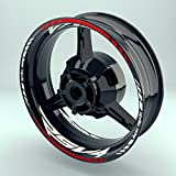 Felgenaufkleber Set APRILIA RSV4 für Motorrad | 17 Zoll | Felgenrandaufkleber & Felgenbettaufkleber | Vorder- & Hinterfelge (Doppelt - glänzend)