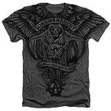 Sons of Anarchy Herren Hemd mit Flügeln, meliert