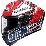 Shoei Motorradhelm, Vollvisierhelm, Integralhelm X-Spirit III Marquez 5 TC-1 L, Unisex, Sportler, Ganzjährig, rot