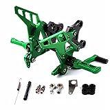 Qazwsx Motorrad-Pedalgetriebe Für Kawasaki Z900 17-18 Refit Lift Fußpedal Fußpedalhalterung CNC-Fußrasten,Green