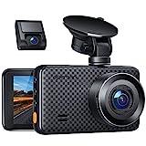 APEMAN 2K &1080P Dashcam vorne und hinten, Maximal 1520P, 128 GB Unterstützung, 170° Dashcam Autokamera mit 3 Zoll IPS-Bildschirm, Nachtsicht mit IR-Sensor, Bewegungserkennung, Einpark-Monitor