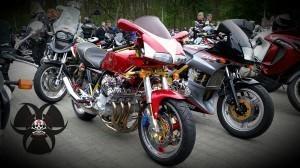 1.Mai Motorradtreffen in Nürnberg V6 Motor, da war für ne Verkleidung kein Platz mehr