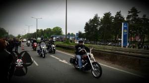 1.Mai Motorradtreffen in Nürnberg - Um ca. 9 Uhr - es geht los, die meisten kommen erst noch