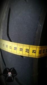 gemessene Reifenfläche beim S20 aktuell