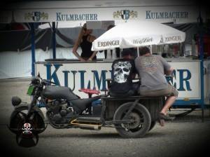 verrückte Typen beim Bike & Music Weekend 2014 Geiselwind Strohofer