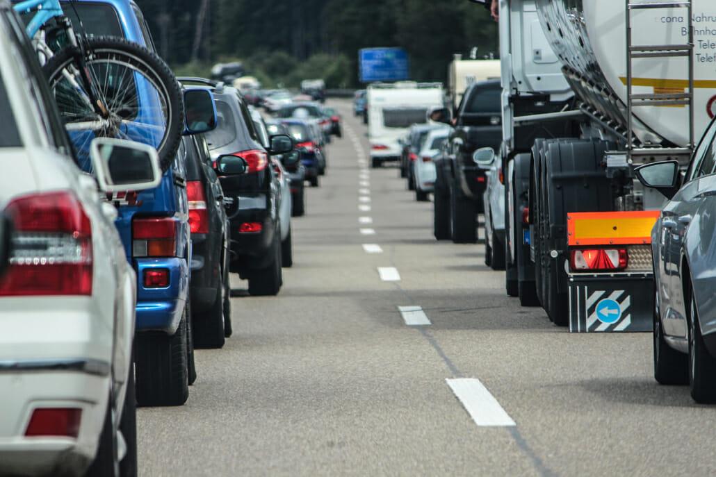 Autobahn A2 – Sperrung der linken Fahrspur für Motorräder