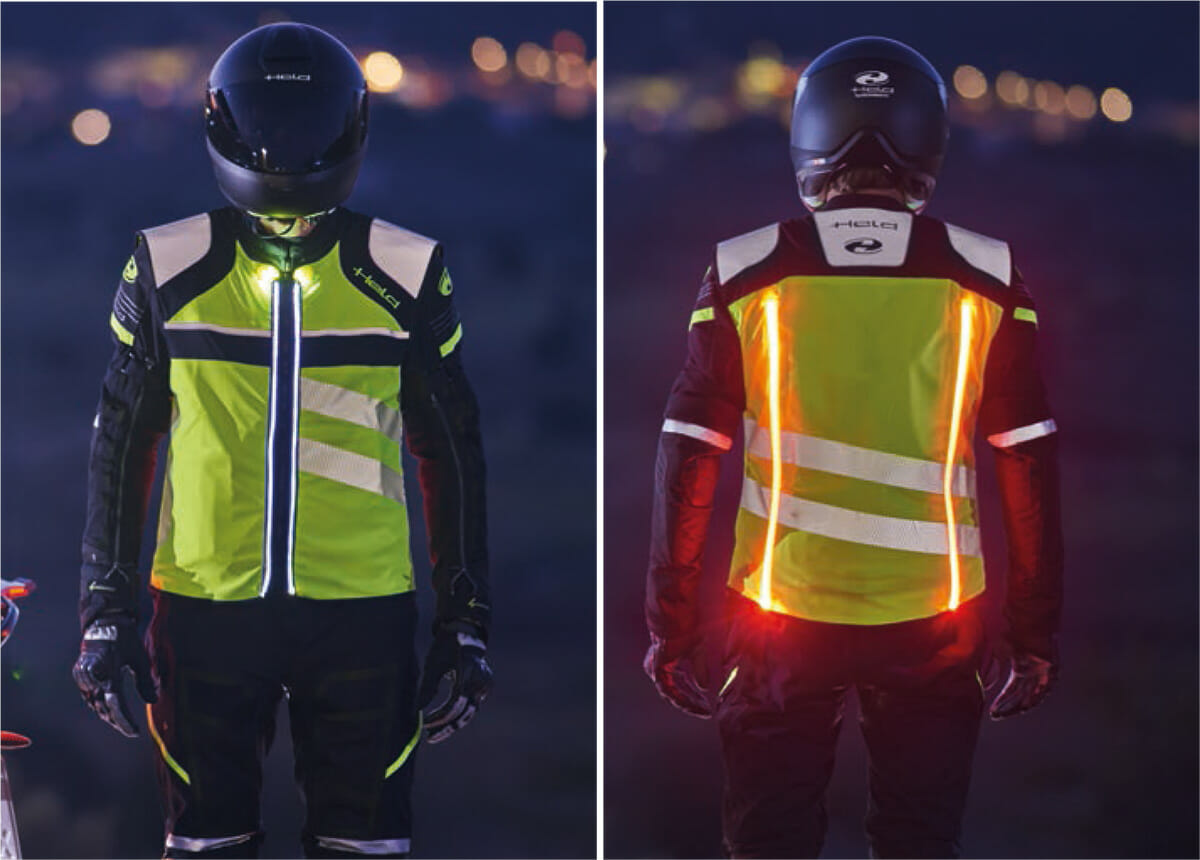 Held lights motorcycle clothing - HLS system
