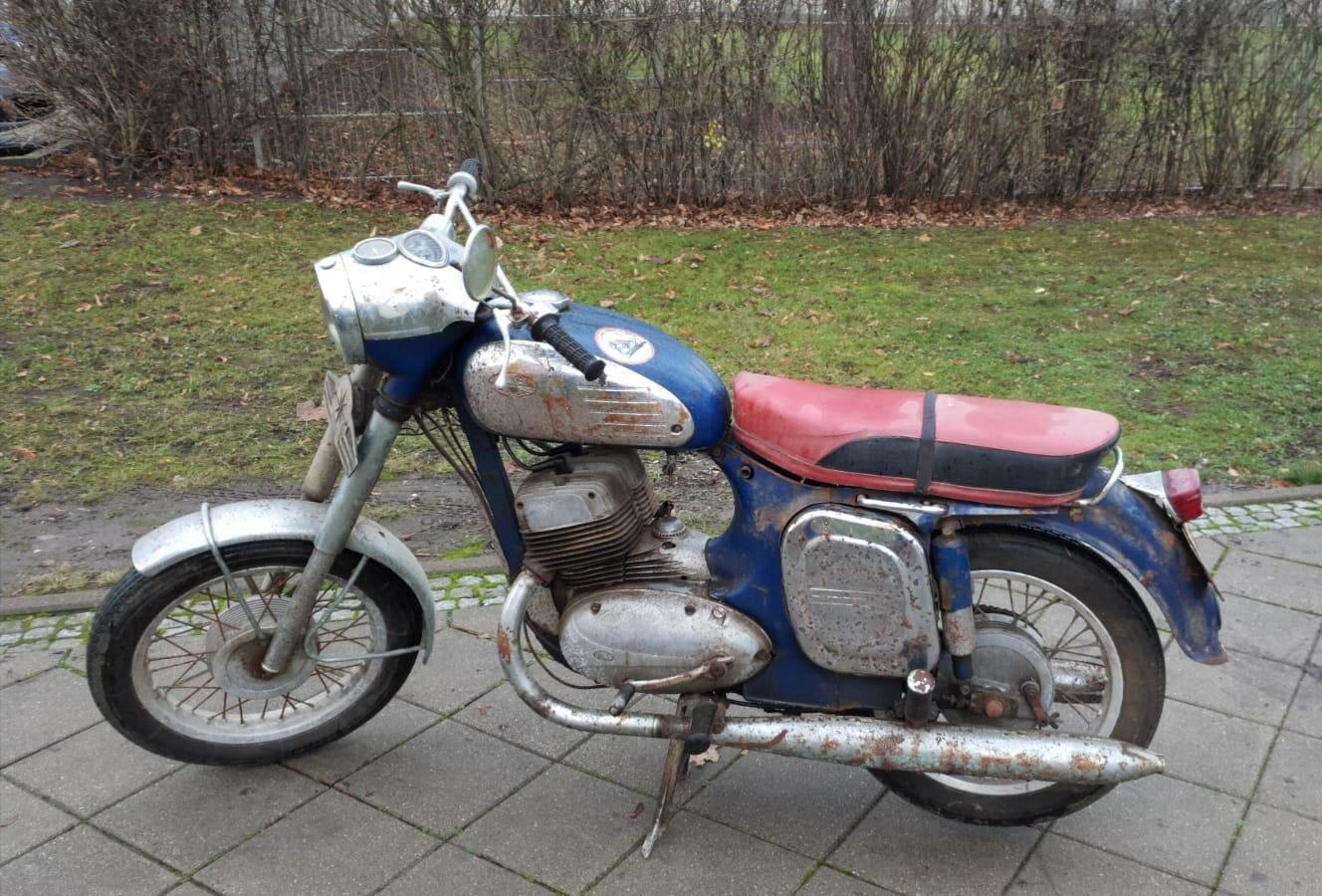 Oldtimer-Motorrad gefunden