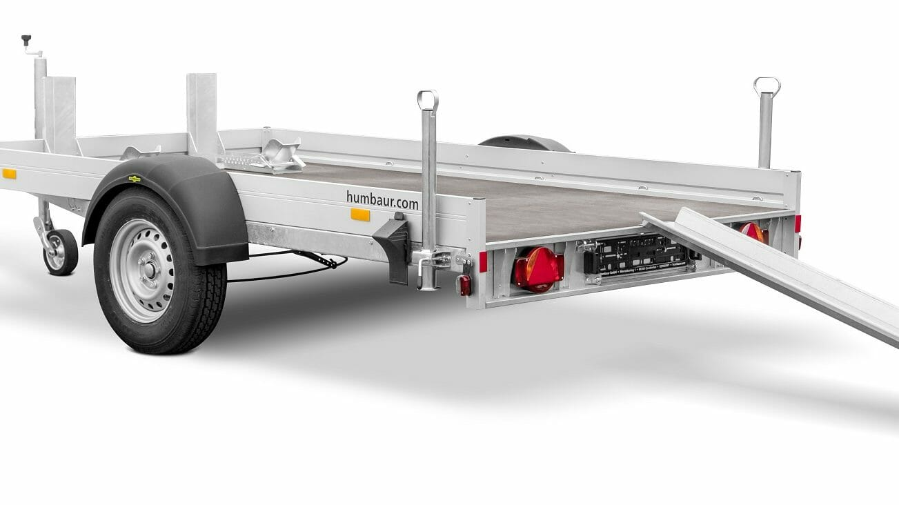 Humbaur optimiert den kleinen Motorradanhänger