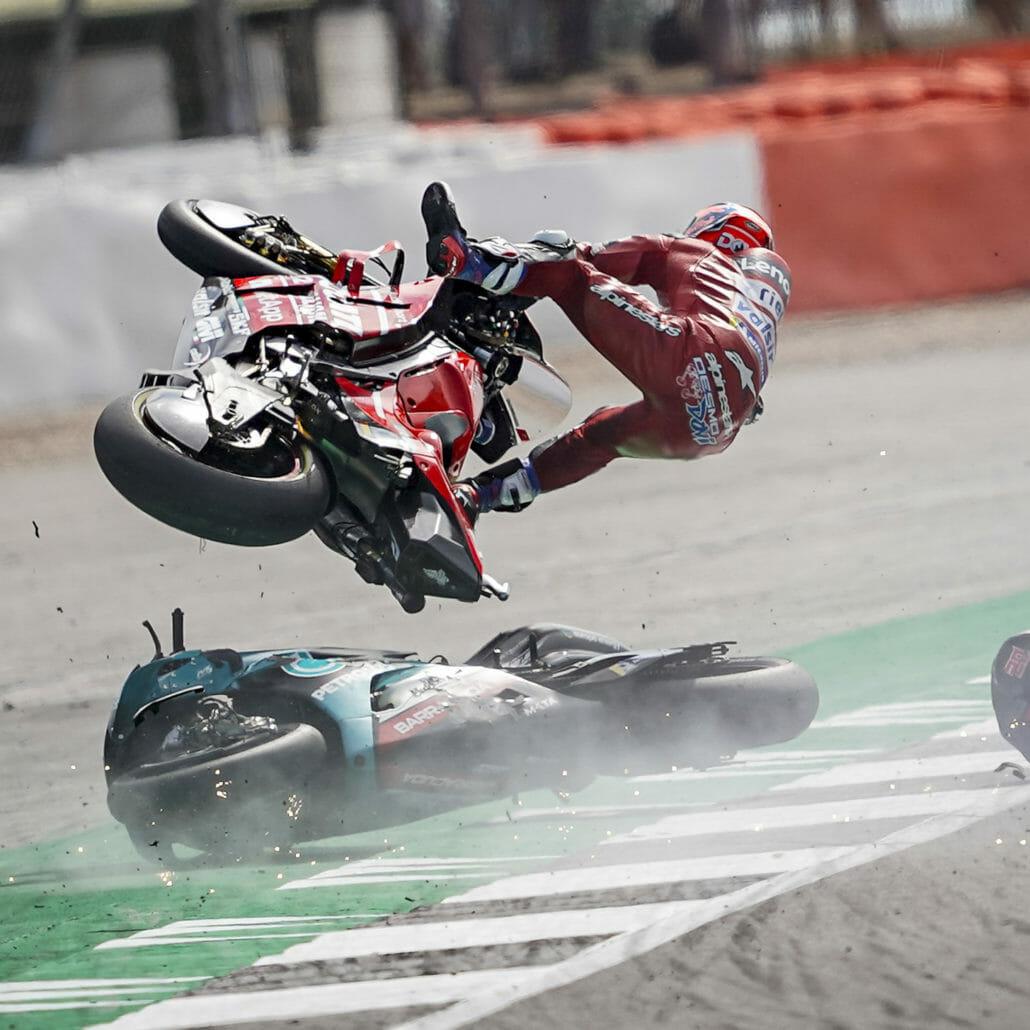 Unfalldaten von Dovizioso und Quartararo veröffentlicht
