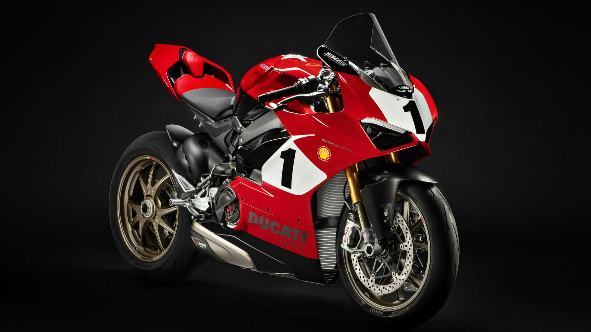 Auction: Panigale V4 25 ° Anniversario 916 in favor of the Carlin Dunne Foundation