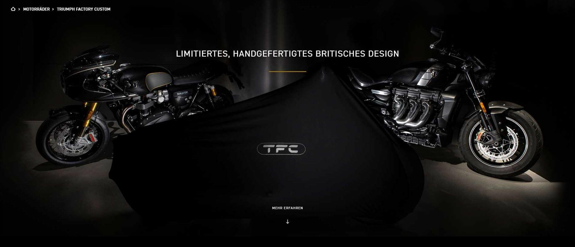 Dritte Triumph TFC wird auf der Eicma vorgestellt