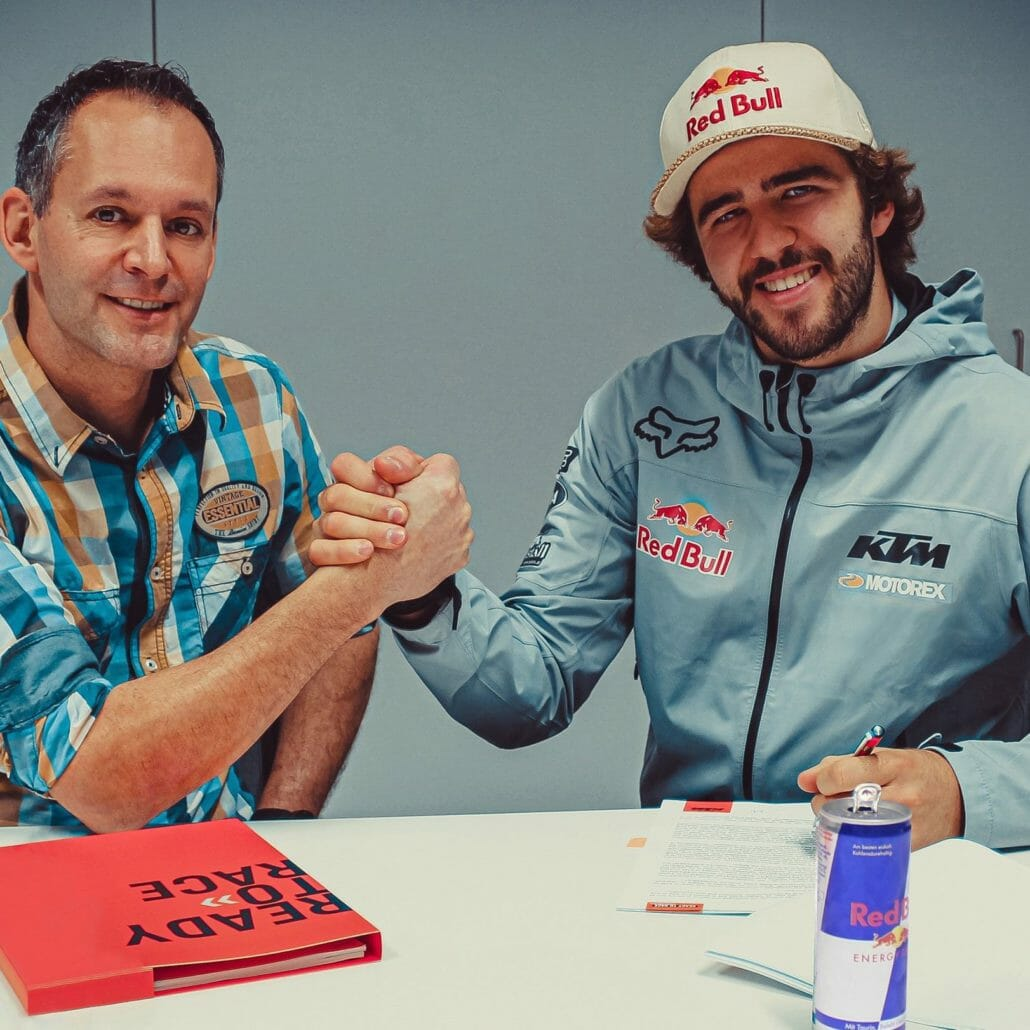 Manuel Lettenbichler drives for Red Bull KTM Factory Racing