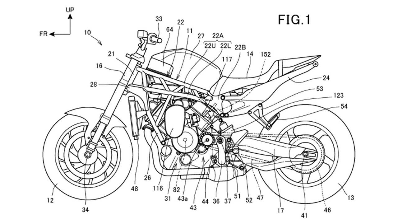 New Honda patent for a supercharged V-Twin