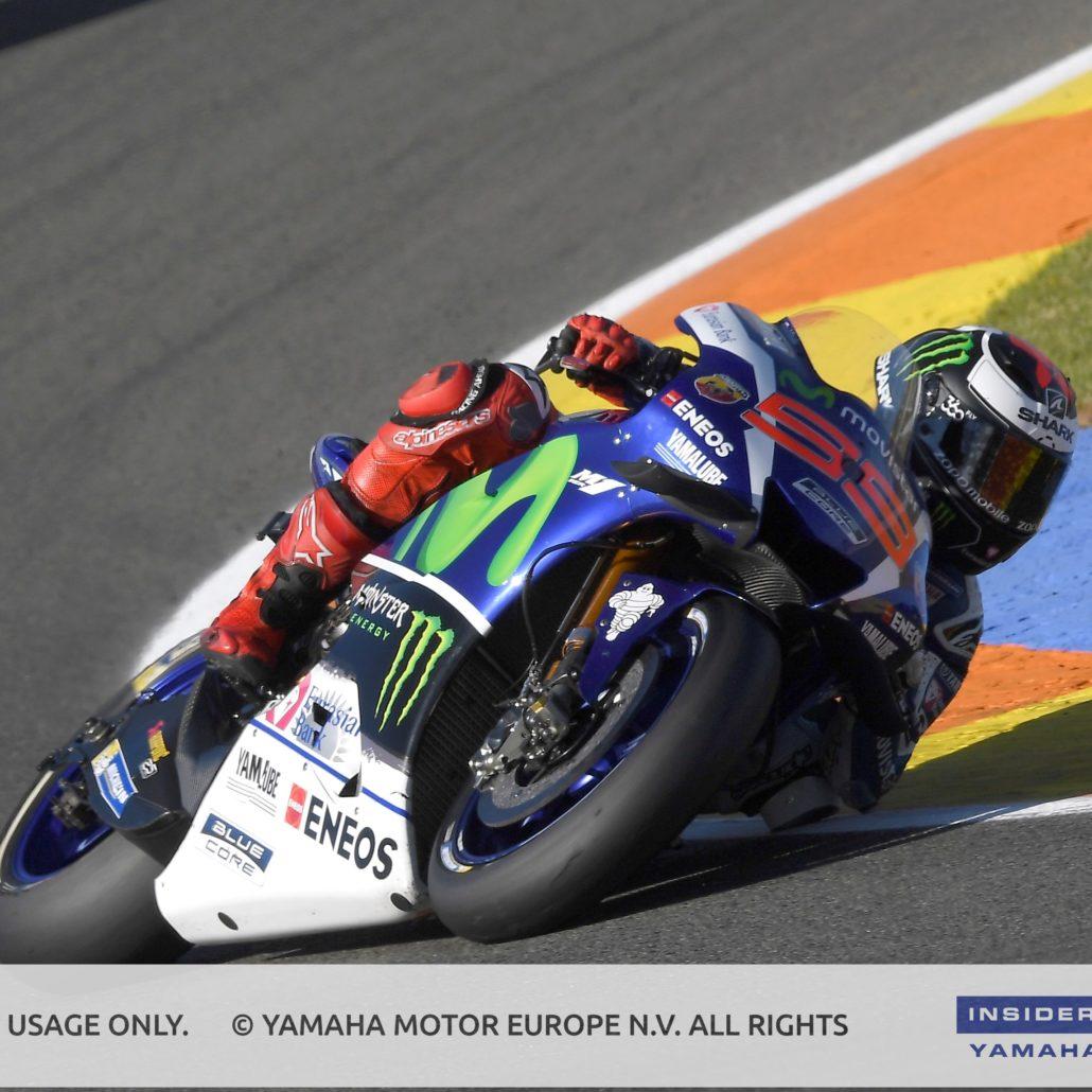 Jorge Lorenzo as a test driver for Yamaha