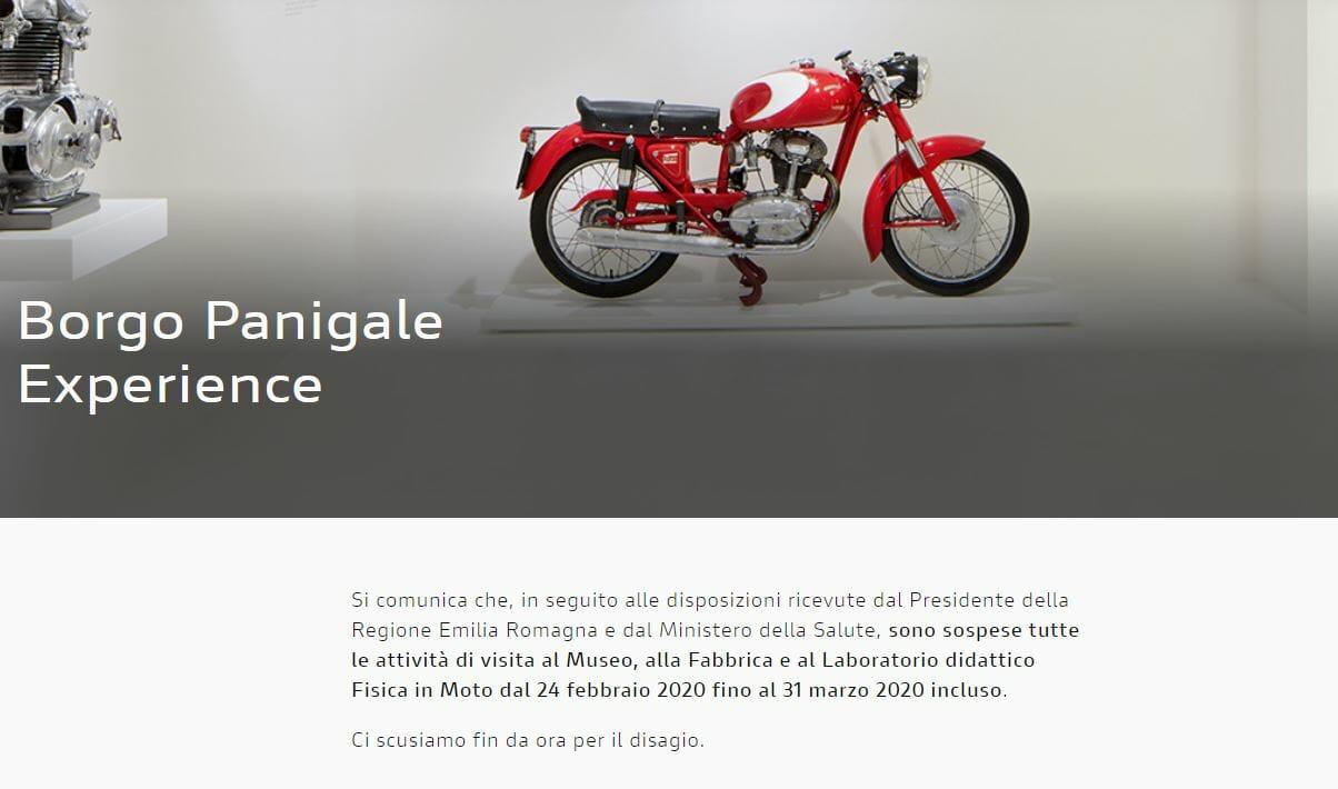 Ducati and Piaggio - museums temporarily closed