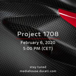 Presentation of the Ducati V4 Superleggera on February 06, 2020
