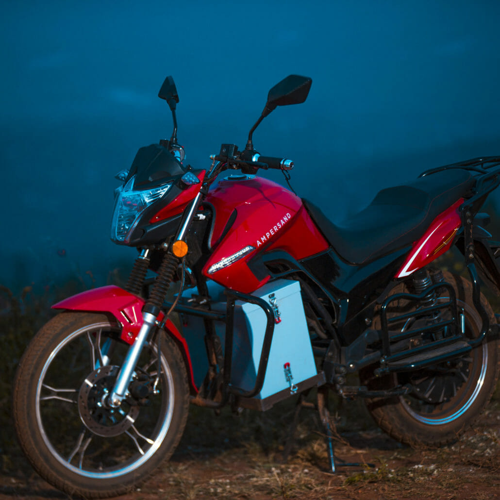 African electric motorcycle for the general public