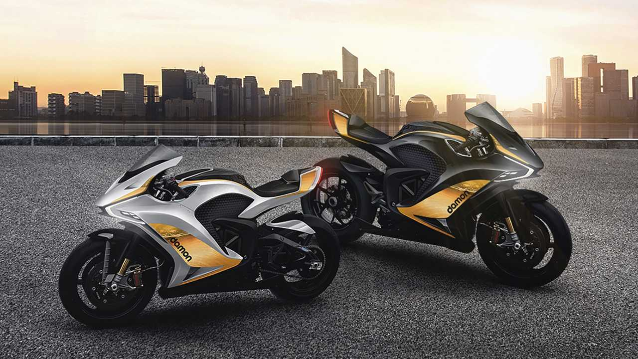 Damon Motorcycles with two other versions of Hypersport