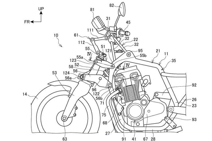 Patent - Does Honda want to deviate from the traditional fork?