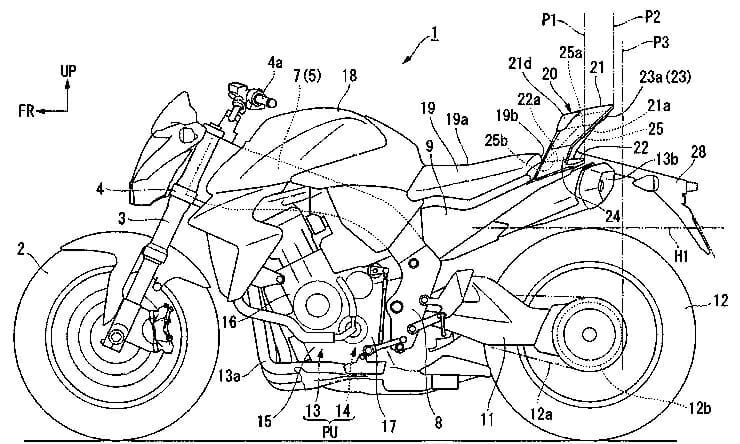 Patent - New Honda rear aerodynamics