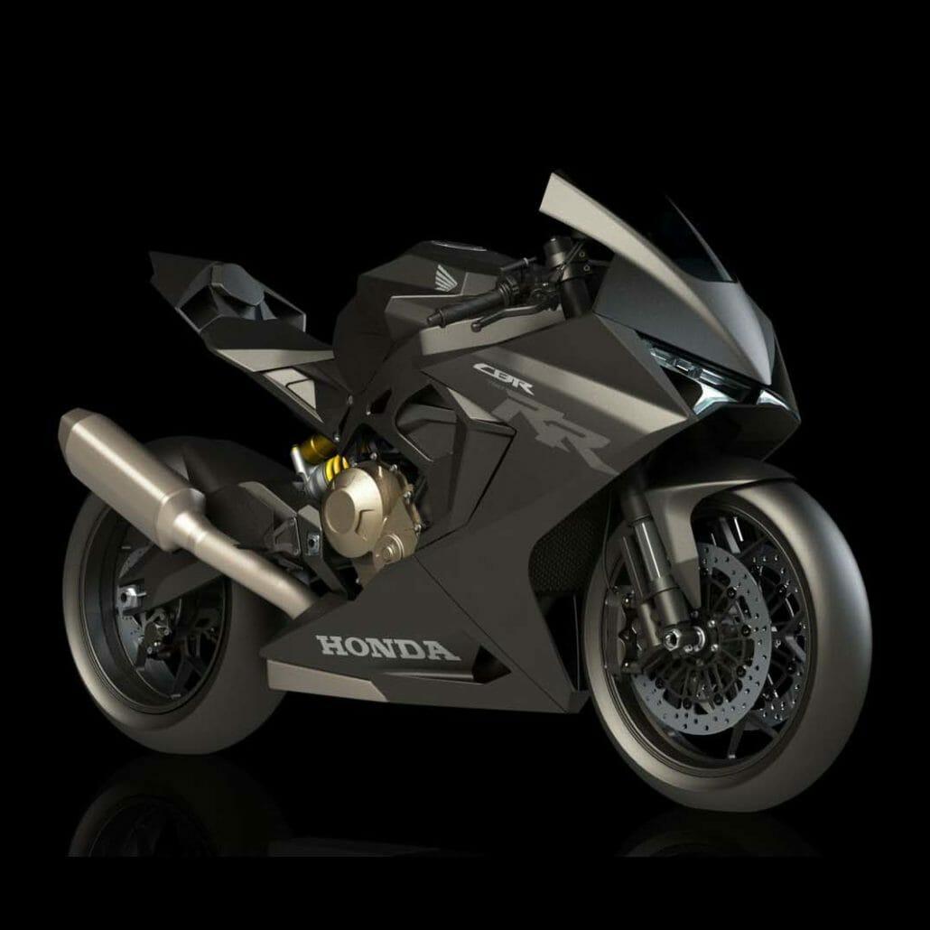 Design of a possible Honda CBR750RR (?) appeared