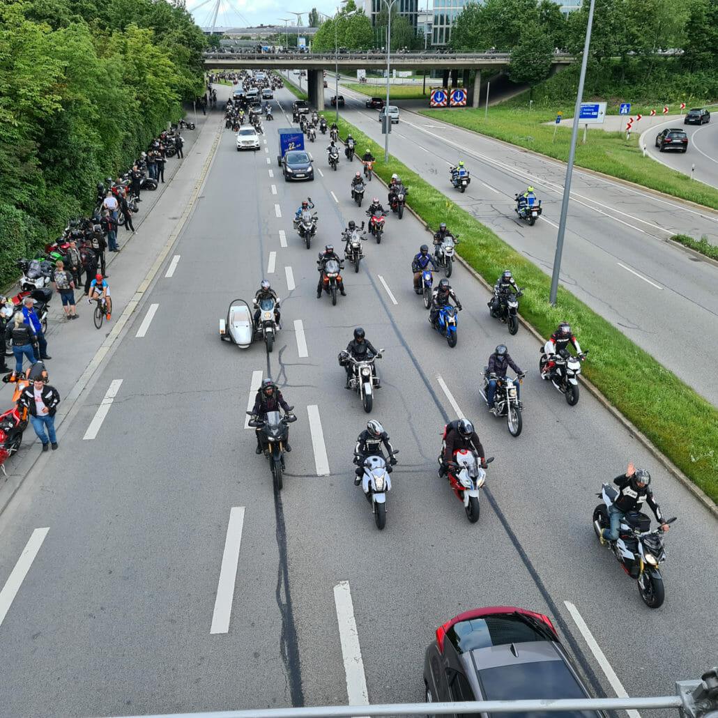 Tausende Biker zeigten in München, dass sie sich verschärfte Sanktionen nicht gefallen lassen