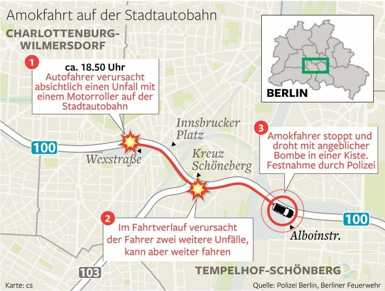 Berlin: Several motorcyclists rammed - Islamist attack?