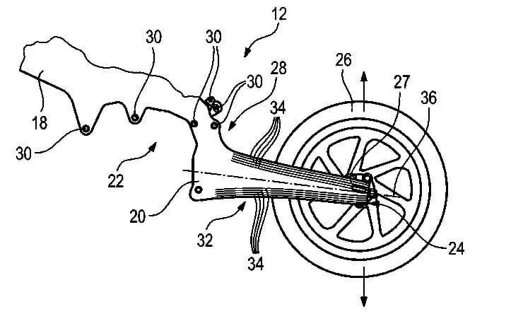 BMW Patent zeigt Carbon-Rahmen mit integrierter Schwinge