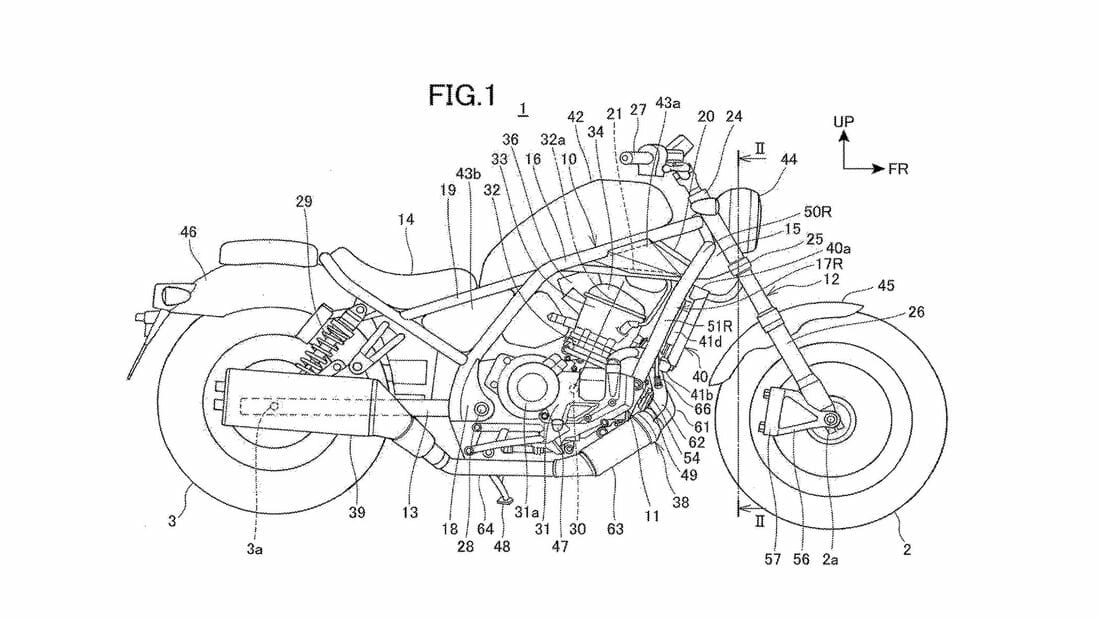 Honda Rebel 1100 patent reveals new model