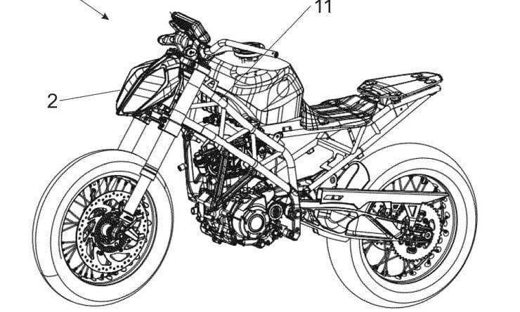KTM radar patent shows hints of 390 Supermoto?